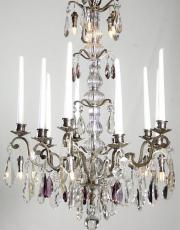 Antique silver candle chandelier