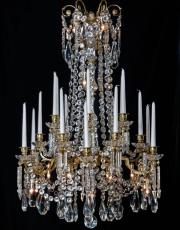 large Baccarat gilded crystal chandelier