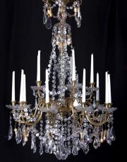 Baccarat large antique candle chandelier