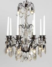 Crystal antique black chandelier from Franc