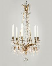 antique gilded chandelier