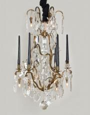Antique chandelier with lights