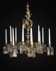 Gilded antique Louis XV chandelier from France