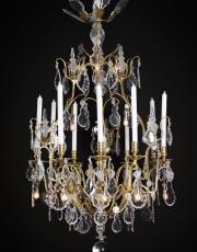 Large antique birdcage chandelier from France