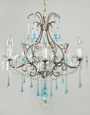 blue italian chandelier