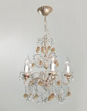 italian chandelier yellow drops