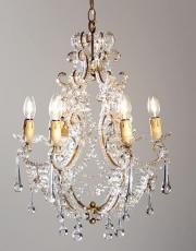 Italian antique crystal vintage chandelier