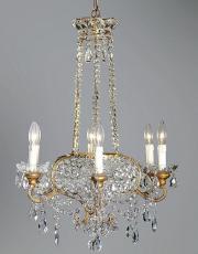 Italienischer antiker Kronleuchter aus den 30ern Jahren Modell Perlentasche