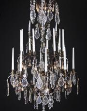 Large antique chandelier from France