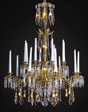 Large antique gilded Baccarat chandelier