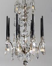 Silver antique crystal chandelier from France