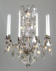 Silver antique French chandelier