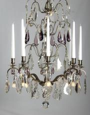 Silver antique chandelier