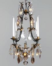Wrought iron antique French chandelier