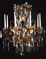 Wrought iron antique chandelier