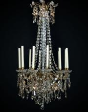 gilt bronze Baccarat chandelier