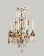 Silver lustre a tige chandelier