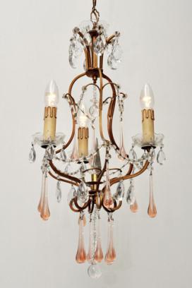 Italiaanse set kristallen art nouveau kroonluchters