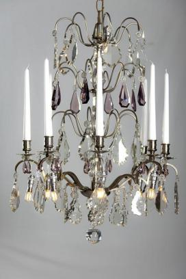 Silver antique chandelier