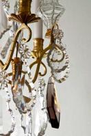 Antieke Franse vergulde lustre a tige louis xv