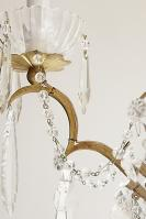 Franse antieke kristallen kroonluchter