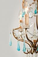 Antieke art nouveau/jugendstil kristallen kroonluchter