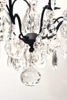Zwarte kristallen Franse antieke kroonluchter