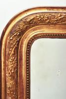Franse antieke vergulde spiegel art nouveau