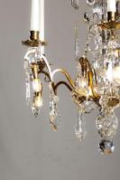 Antieke Franse kristallen kroonluchter met Led verlichting