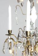 kleine antieke Franse kroonluchter met led verlichting