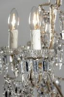 Antieke Italiaanse kristallen jaren 30 kroonluchter