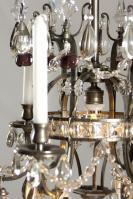 Antieke zilveren Franse kroonluchter