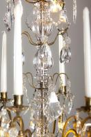 Antique French crystal chandelier with led lighting