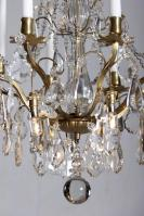 Antique gilded candle chandelier from France