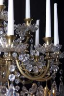 Baccarat grote antieke kaarsen kroonluchter