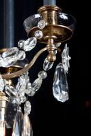 Louis XVI kroonluchter met kristal uit Frankrijk
