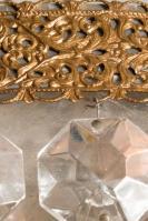 grote kristallen antieke plafonier uit Frankrijk