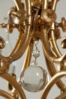 17e eeuwse antieke Italiaanse kroonluchter in verguld brons
