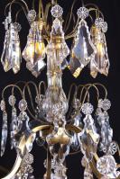 Grote antieke kristallen Franse kaarsen kroonluchter