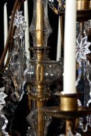 Antieke kristallen kroonluchter 19e eeuw