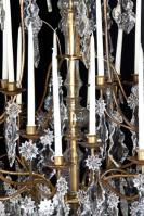 Grote bijzondere lustre a cage begin 19e eeuw