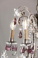 Italiaanse kroonluchter met paarse gekleurde pegels