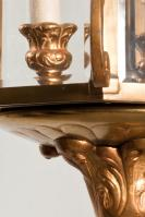 Antieke bronzen hal lantaarn