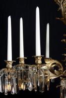 Vergulde antieke Louis XV kroonluchter uit Frankrijk
