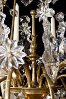Antieke kristallen Baccarat lustra a cage