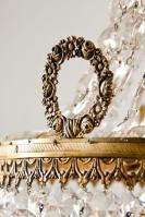 Grote kristallen zakluchter, sac a perles uit Frankrijk