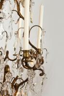 kristallen lustre a cage
